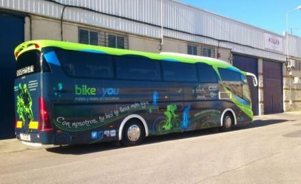 Rotulación Autobús para empresa deportiva
