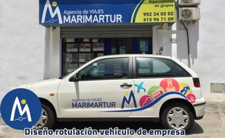 Rotulación vehiculo de empresa. Viajes Marimartur