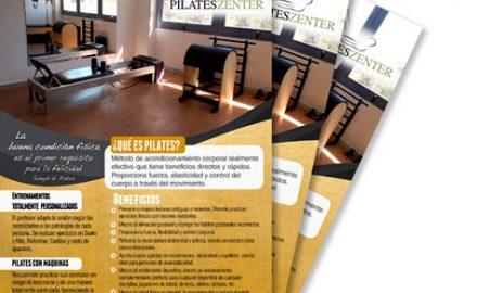 Flayer para Pilates Zenter