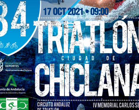 Cartel triatlón ciudad de Chiclana